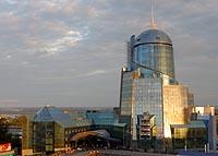 Здание вокзала в городе Самара