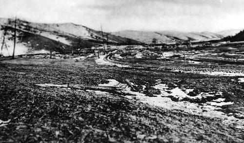 Выход петли к Харбину по долине реки Яль (375 верста)