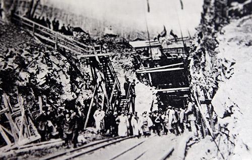 Осмотр работ по пробивке Хинганского тоннеля