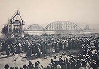 Железнодорожный мост через реку Енисей